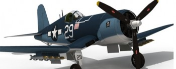 F4U Corsair Aircraft Paper Model