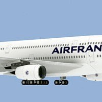 Air France Airbus A380 Paper Model