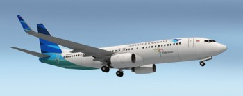 Garuda Indonesia Boeing 737-800 Paper Model