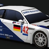 BMW Motorsport 2001 ELMS Car Paper Model