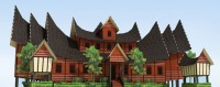 Rumah Gadang - Traditional House Paper Model