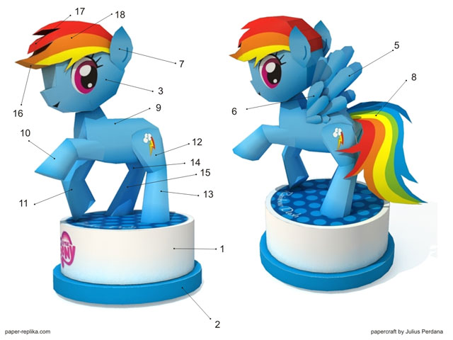 Rainbow Dash My Little Pony Papercraft