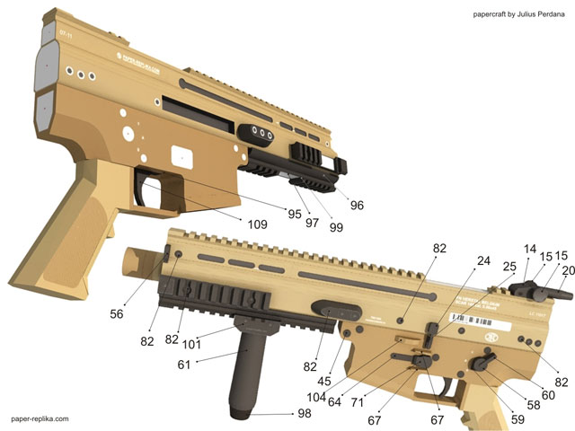 Fn scar l actual size papercraft assault rifle how to assembly lower receiver pronofoot35fo Gallery