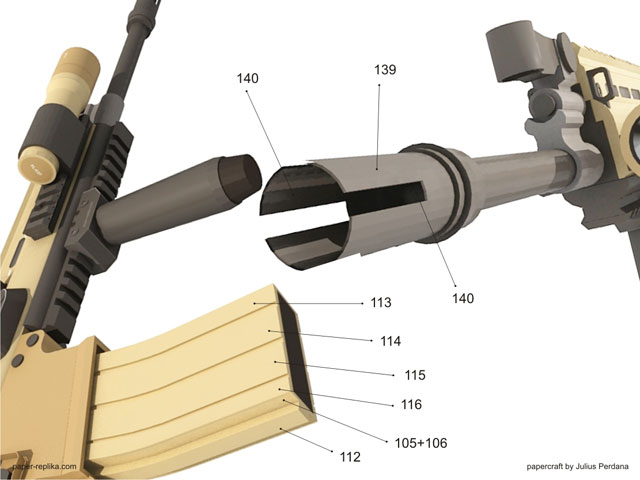 Fn scar l actual size papercraft assault rifle how to assembly magazine pronofoot35fo Gallery