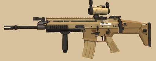 FN SCAR assault rifle paper craft model kit intro