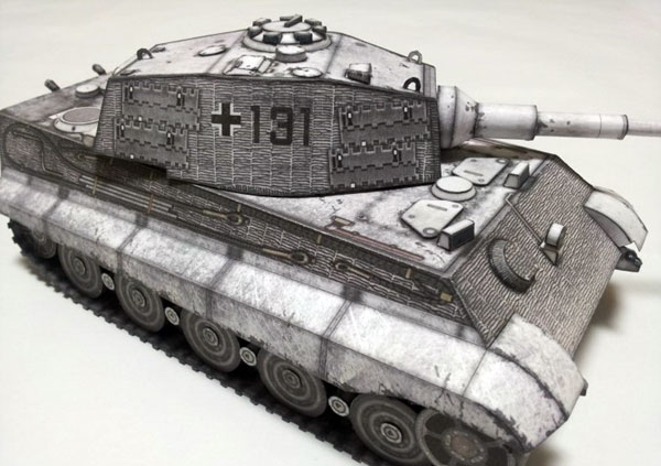 King Tiger Tiger Ii Tank Paper Model