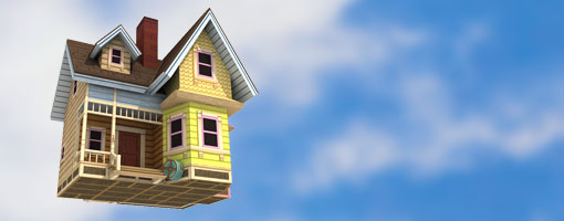 carl s flying house up movie papercraft