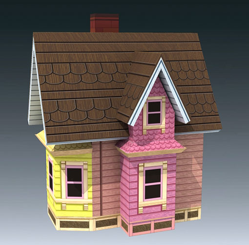 graphic relating to House From Up Printable identify Carls Traveling Household (UP Online video) Papercraft