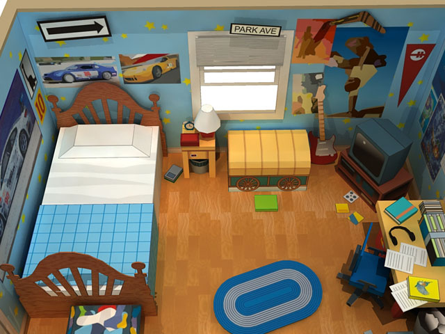 Paper Replika. Andy s Room Diorama   Toy Story 3 Papercraft