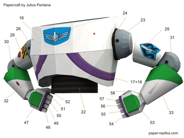 Buzz lightyear toy story papercraft and the winner is buzz off course this buzz lightyear paper craft figurine was quite challenging because of many of his body parts are curve geometry pronofoot35fo Gallery