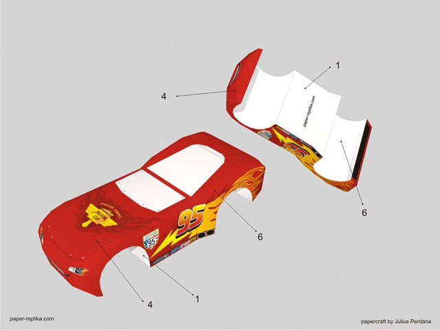 Cars 2 Lightning Mcqueen Papercraft