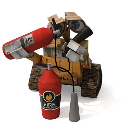 ... from the trash dump scene (Earth), and the other one from AXIOM emergency capsule. The one WALL-E use to dancing and flying with EVE outside the AXIOM.