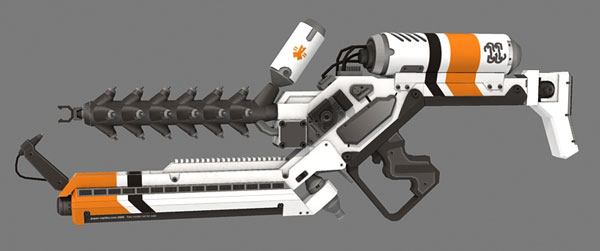 District 9 Alien Rifle orange