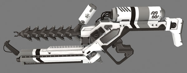 District 9 Alien Rifle grey