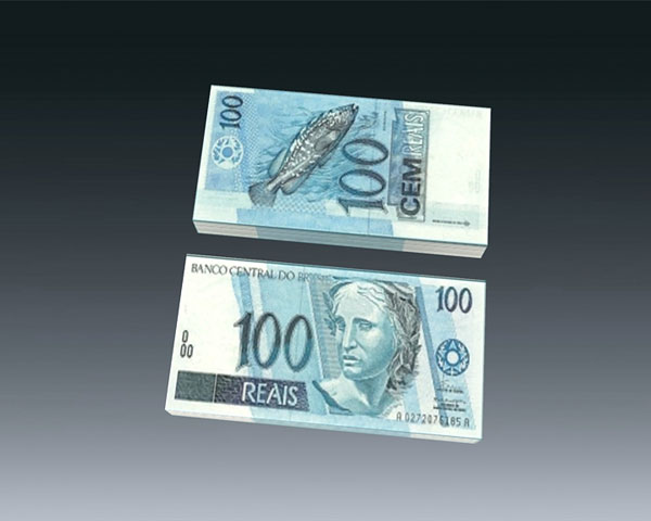 Brazilian 100 Real Paper Money
