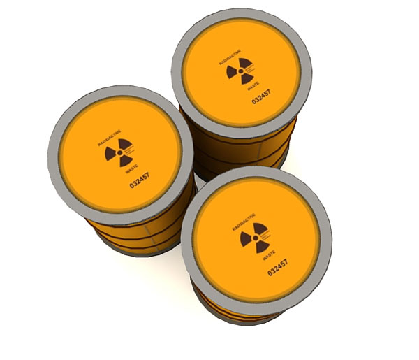 Nuclear Waste Drum Papercraft