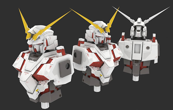 Unicorn Gundam Paper Model (Torso)
