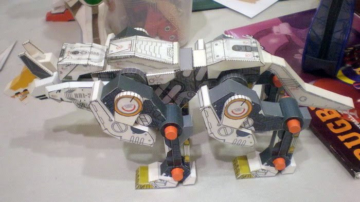 Command Wolf Zoid Paper Model