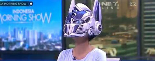 Optimus Prime helmet