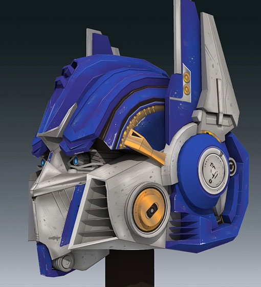 optimus-prime Papercraft Part 1