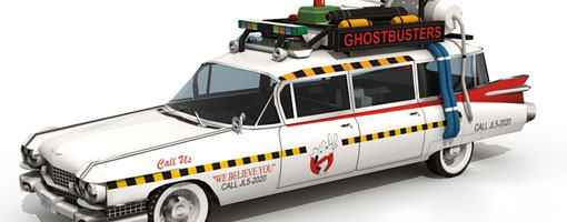 Ecto-1A Ghostbusters Car Paper Model