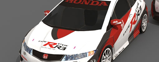 Honda Civic Type-R R3 Paper Model
