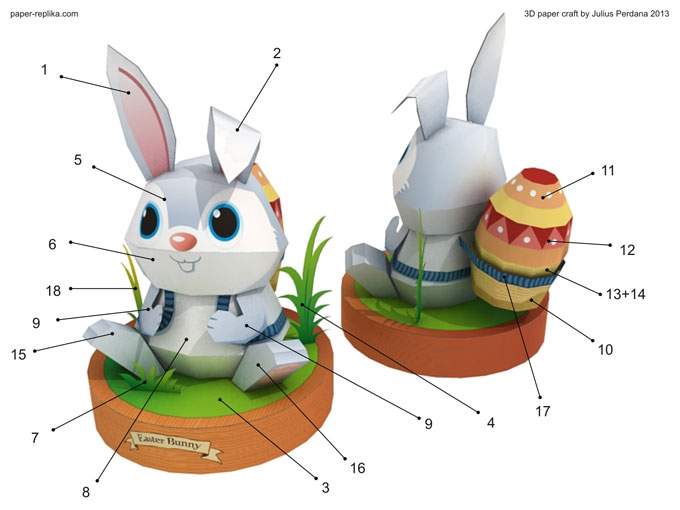 Easter Bunny Paper Craft