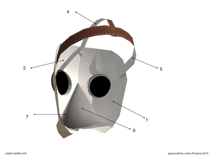 Plague Doctor Wearable Mask Paper Craft Awesome Plague Doctor Mask Pattern