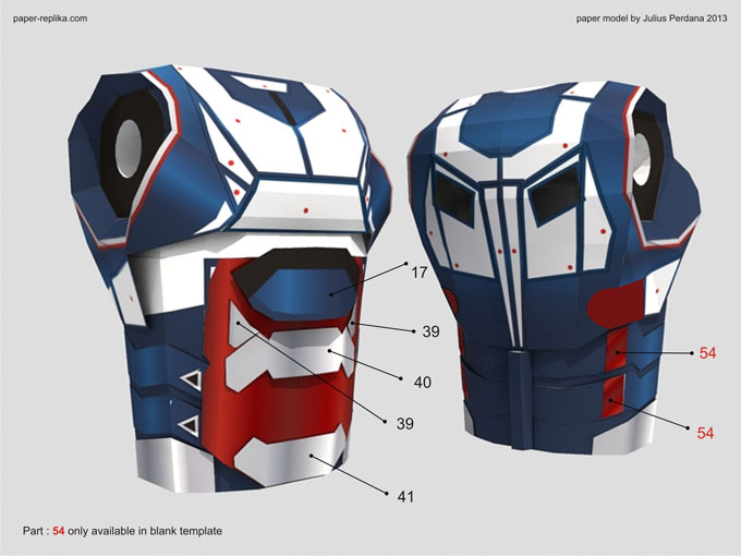 Iron Patriot Iron Man 3 Paper Model Part 1