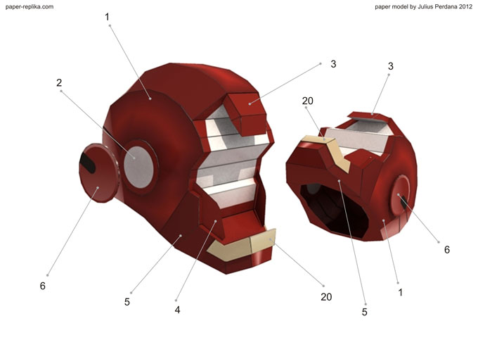 Iron man mark vii paper model part 1 pronofoot35fo Gallery