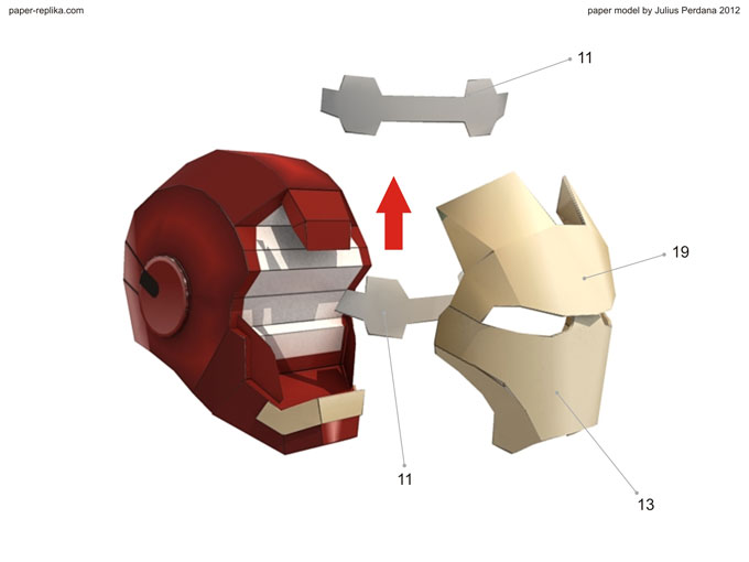 Iron Man Mark VII Paper Model Part 1