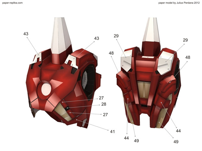 Iron man mark vii paper model part 1 dim lights embed embed this video on your site pronofoot35fo Image collections