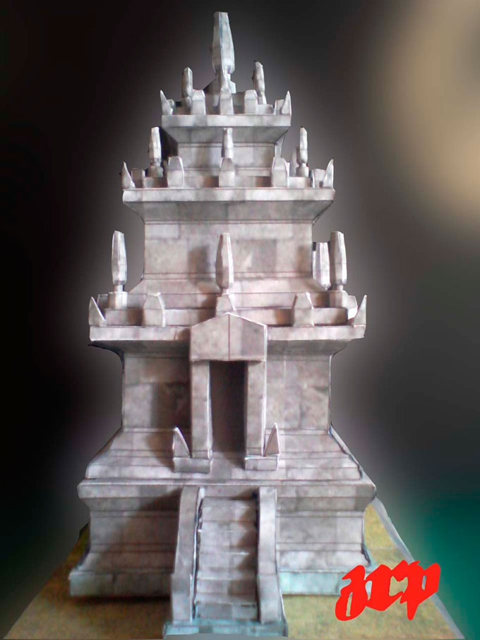 cangkuang temple paper model ancient building