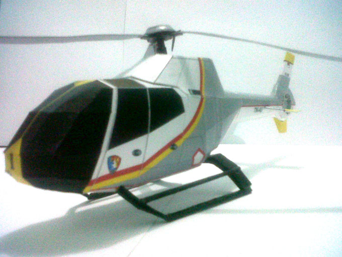 Ec 120b colibri helicopter paper model paper replika pronofoot35fo Choice Image