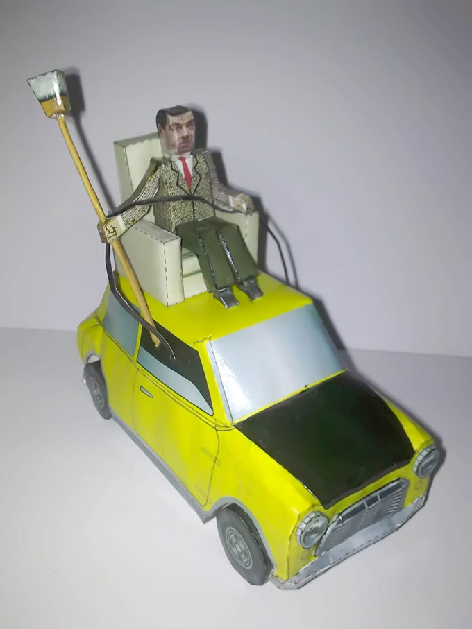 Mr Bean And His Car Paper Craft Do It Yourself Mran