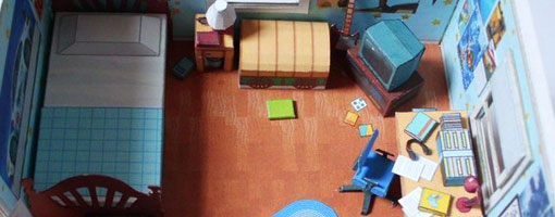 Complete Assembled Andy's Bedroom Diorama Papercraft