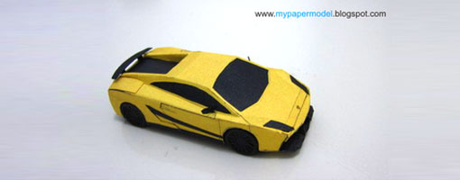 Papercraft Car Lamborghini | Carbk co