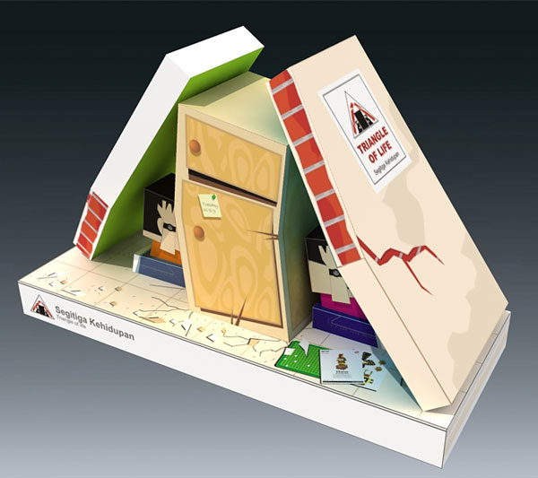 Triangle of Life paper toys