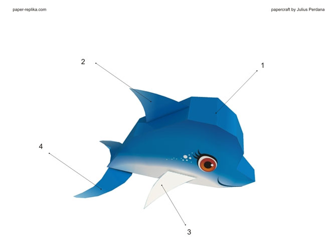 how to make dolphin paper craft
