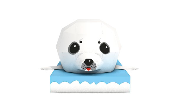 Baby Seal Animal Paper Craft