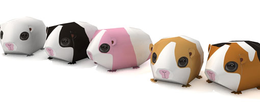 Guinea Pig Simple Paper Craft