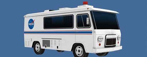 Astrovan Crew Transport Vehicle Papercraft