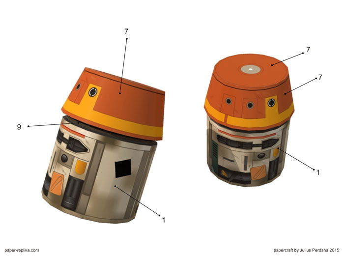 Chopper star wars paper craft