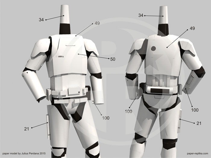First Order Heavy Stormtrooper Papercraft