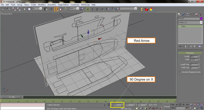 3d modeling for paper model tutorial select the red arrow of the gizmo then rotate the plane into 90 degree save your work here with the name rbs boatax malvernweather Choice Image