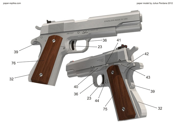 Hitman silverballer colt m1911 paper model dim lights embed embed this video on your site pronofoot35fo Gallery